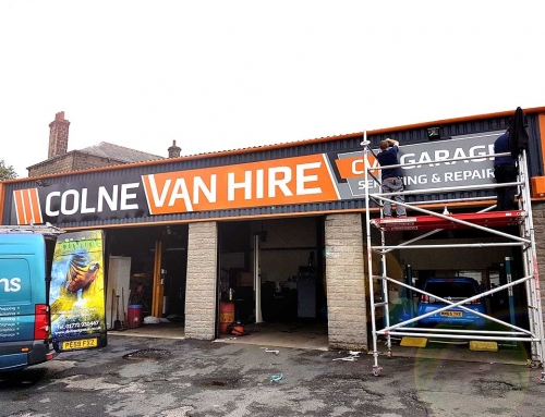 New Branding, New Signage. A New Era For Colne Van Hire!